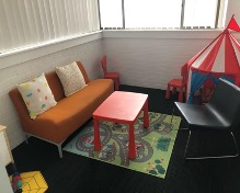 A picture of the playroom therapy room