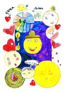 Children's drawings including Australian and Eritrean flag